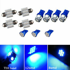 11PCS Blue LED Lights Interior Package T10 31mm Map Dome For Pontiac Oldsmobile
