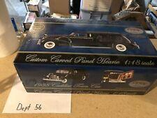 Precision Miniatures 1:18 1938 Cadillac Custom Carved Panel Hearse Black w/ Box