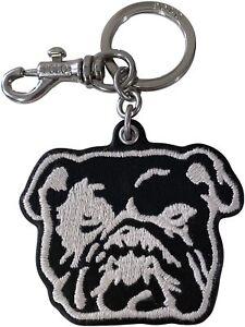 Polo Ralph Lauren Bulldog Embroidered Leather Key Fob Keychain