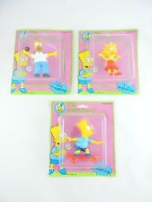 The SIMPSONS Lot of 3 PVC Figurines Homer BART & Lisa PRESENTS Hamilton Gifts