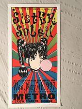 Sister Soleil Silkscreen 1997 Tour Poster Metro Chicago  11 1/2 x 23