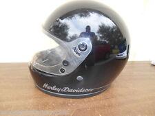 VINTAGE Harley-Davidson 1975 Black Full Face Bell Helmet 7 3/8