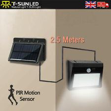 Solar Powered LED PIR Motion Sensor Wall Security Light Garden Outdoor w/ wires