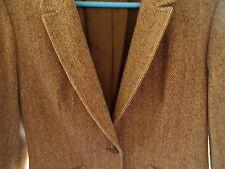 Ladies Vintage Brown FASHION Tweed Jacket PENDLETON USA Virgin Wool Professional