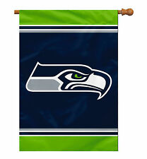 """Seattle Seahawks 28""""x40"""" Single Sided NFL Licensed Banner - Fast Free Shipping"""