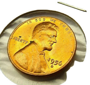1956-D LINCOLN WHEAT PENNY CENT COIN RED UNCIRCULATED + FREE SHIPPING!