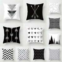 Black&White Geometric Throw Cover Pillow Cushion-Square Case Decorate Dazzling S