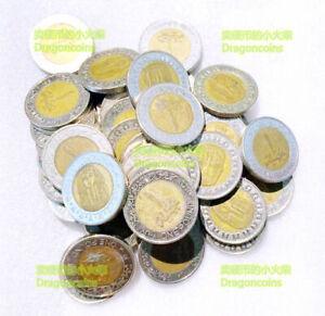 100pcs dealer coins lot EGYPT 1 pound Sphinx KING TUT ANKH AMON 25mm Bi-Metal