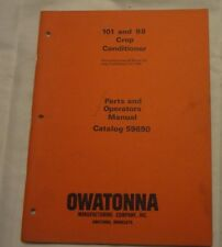 Owatonna 101 and 98 Crop Conditioner Parts and Operators Manual 59690