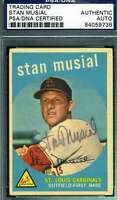 STAN MUSIAL PSA DNA COA Autograph 1959 TOPPS Authentic Hand Signed