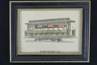 Vintage Picture Frame of San Antonio Rapid Transit Open Horse Trolley Car