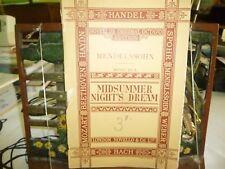 Music. Mendelssohn music to Midsummerr Night's Dream. Novello's Original Octavo.
