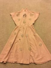 Vintage 1930's 40's Women's Farm House Wife Work Dress Cotton Pin Up Girl