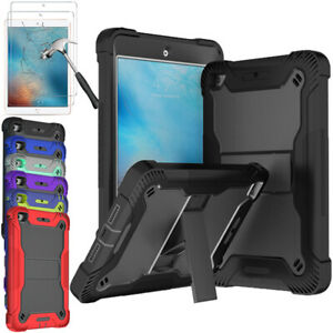 For iPad 2/3/4 iPad Mini 4 5 Hybrid Heavy Duty Protective Tablet Case With Stand