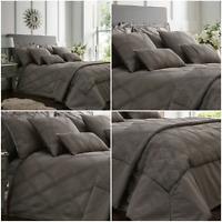 ORLANDO Modern Jacquard Duvet Cover/Quilt Cover Set Bedding Range Charcoal