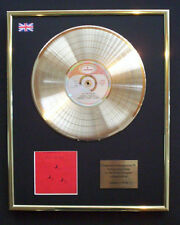 RUSH HOLD YOUR FIRE CD GOLD DISC RECORD LP  FREE P&P!