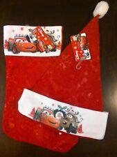 "Disney Pixar Cars Red felt 15"" Stoc 00004000 king & 17"" Hat Lightning McQueen & Mater Nwt"