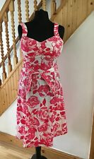 Ladies oasis summer cotton dress floral size 12