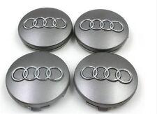 4 x AUDI CENTRE CAPS 60mm alloy wheel center Badges  A 1 2 3 4 5 6 8 Q RS S TT
