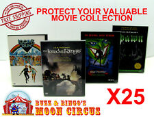 25x DVD MOVIE SNAPBACK CASE - CLEAR PLASTIC PROTECTIVE BOX PROTECTOR SLEEVE