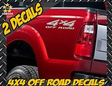 4x4 Truck Bed Decal Set METALLIC SILVER for Ford Super Duty F-250, F-150, Ranger