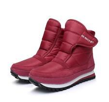 Winter Womens Waterproof Ankle Boots sneaker Hook&Loop High Top Snow Shoes