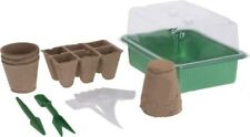 MINI GREENHOUSE GROWING SET POTS Propagation Kit, Nursery, Germination, Starter
