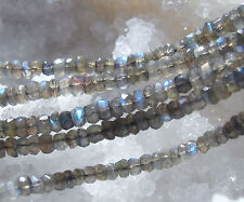 1 strang ca. 5,2-5,6 mm labradorit ,facettierte rondell perlen, ca. 34 cm