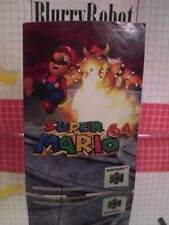 Super Mario 64 ( Nintendo N64 ) Booklet / Manual Only