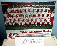 1976 CINCINNATI REDS BIG RED MACHINE WORLD CHAMPIONS 8X10 TEAM PHOTO