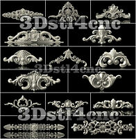 15 3D STL Models Decor Set for CNC Router Carving Machine Artcam aspire Cut3D