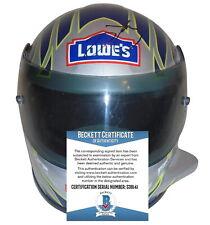 Jimmie Johnson Signed Autographed Nascar Racing Mini Helmet BAS Beckett Cert Coa