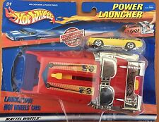 HOTWHEELS  POWER LAUNCHER ISSUED IN 2001 WITH YELLOW MLO Fantasy Car 47073 NIP