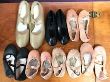 Lot of 5 pairs Ballet, 2 pairs Tap Children's Dance Shoes Pink Black