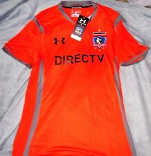"CHILE COLO-COLO EMBROIDERED ""U.A. FITTED"" PRIMERA SOCCER JERSEY MEN'S MEDIUM $80"