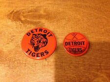 """Lot of (2) 1970's Detroit Tigers Style pins in Great Condition 1.75"""" and 1.25"""""""
