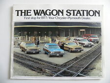 Brochure the station wagon CHRYSLER PLYMOUTH 1977