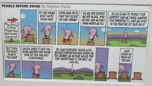 """STEPHAN PASTIS """"PEARLS BEFORE SWINE"""" COLOR CARTOON LITHOGRAPH"""