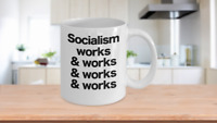 Socialism Mug White Coffee Cup Funny Gift for Socialist Marxist Communist Red