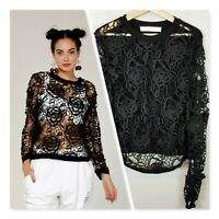 [ TRELISE COOPER ] Coop Womens In Bloom ' arms Lace ' Top  | Size L or AU 14