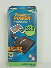 Rayovac 7 Hour Power Instant Charger USB Devices Plus 4 Bonus Batteries