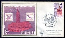 FRANCE BLOC CNEP N° 5 sur FDC SALON PHILATELIQUE 1984 AVIAPHIL TOULOUSE - LUXE