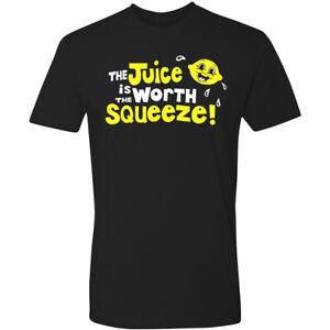 Novelty Tee T Shirt Retro 70's 60's The Juice is Worth The Squeeze Van Biker