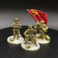 Well Painted 28mm Bolt Action Soviet hq  Ww2 Warlord Games