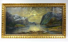 Peintures naerö fjord en Norvège pour 1900 Hermann tube/Karl Kaufmann