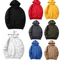 Mens Womens Classic Hooded Plain Sweatshirt Coat Pullover Hoodie Top Blank Hoody