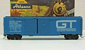 BEV-BEL / ATHEARN #426 HO SCALE 50' DD BOX CAR GRAND TRUNK WESTERN GTW #591399