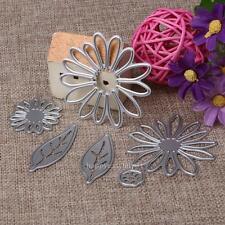 6X Chrysanth Flower Cutting Die Scrapbooking Stencil Embossing Paper Album Craft