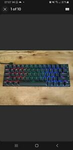 DIERYA DK61 60% Mechanical Gaming Keyboard, RGB Backlit Wired.  (Modified)
