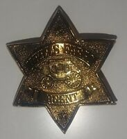 Vintage Badge: WELLS FARGO AGENT PIN BACK BADGE Souvenir Reproduction